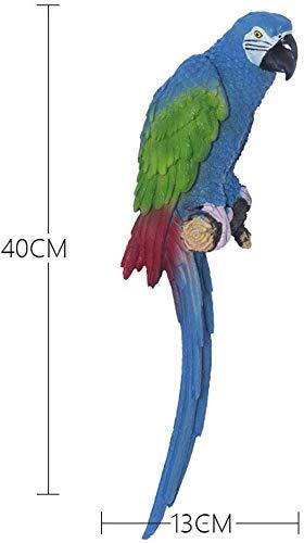 ZXL Wanddekorationen Pastorale Kreative Dreidimensionale Harz Papagei Wandbild Home Hall Annex (Farbe: Blau)