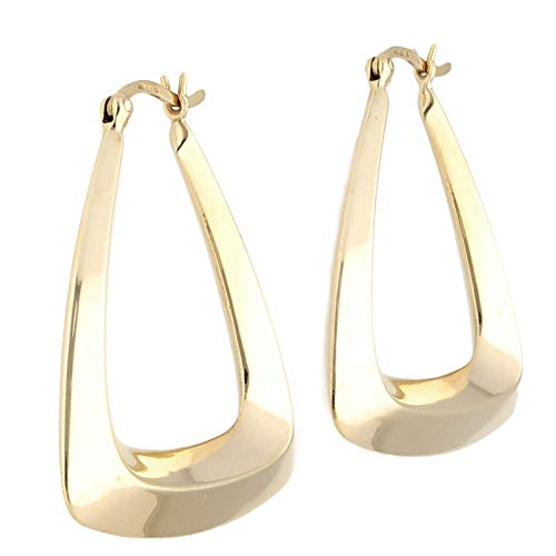 Women's 9Carat Yellow Gold Hoop Earrings (30x30mm) | The Perfect Gift For A Special Lady | Jollys Jewellers