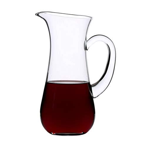 Decantadores De Vino Tinto Vino Tinto Hecho A Mano Vino Tinto Rápido Engrosado para El Hogar Dispensador De Jarra De Vino Europeo (Color : Clear, Size : 60 * 23.5cm)