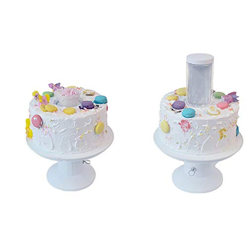 HAZUN Surprise Stand Popping Cake Stand - 2 in 1 Popping Cake and Cupcake Stand,Happy Birthday Cake Holder