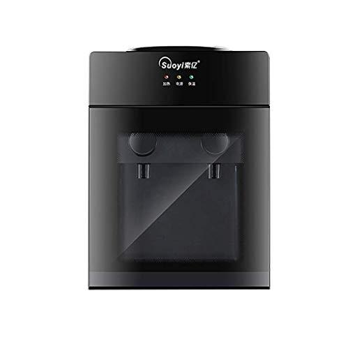 UWY Dispensador de Agua de Escritorio Mini Fuente de Agua fría y Caliente, Seguridad, para Dormitorio de Oficina en casa, Negro/Hielo + Agua Caliente