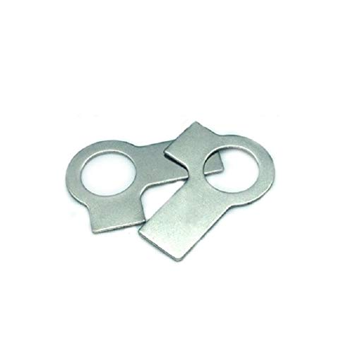 Screw 100pcs/lot DIN463 m4 Tab washers with Short and Long tab at Right Angles tabwashers with 2 tabs Stainless Steel A2 Grade A