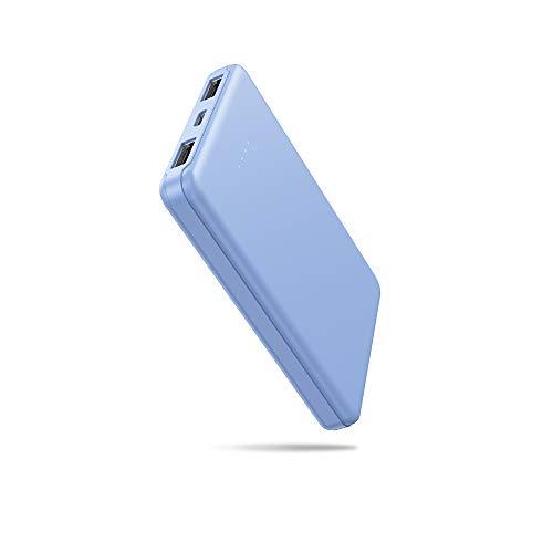 Mini Power Bank 5000mAh,SIXTHGU Batteria Portatile Slim,Caricatore Portatile con Uscita 2.1A, Batteria Esterna,Adatto per iPhone, Huawei, Xiaomi, Samsung e Altri Smartphone(Blu)