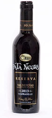 Pack de 12 Botellas botellines Vino Pata Negra Valdepeñas Reserva 375ml - Vinos Baratos para Detalles de Bodas
