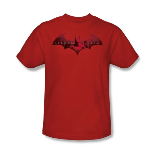 Batman: Arkham City - En La Ciudad de adulto T-Shirt En Red, XXX-Large, Red