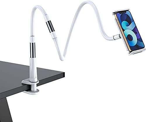 sacfun Soporte de teléfono de Cisne para Cama, Soporte Flexible de Montaje de Brazo Largo para iPhone Series/Nintendo Switch/Samsung Galaxy S9 + 8 / Huawei, Utilizado para el Dormitorio de Escrito