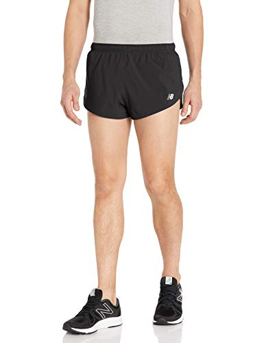 New Balance Men's Impact Run 5 Inch Short, Black, M