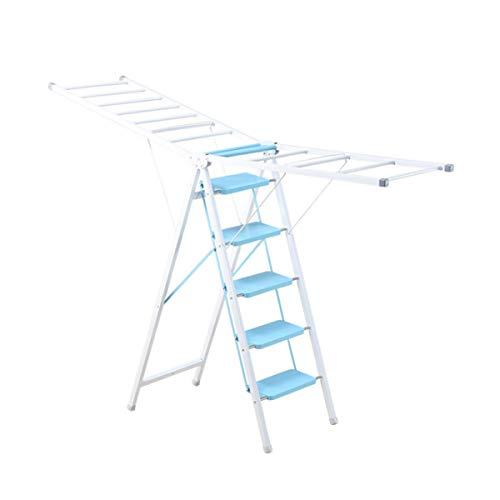 JTRHD Rack de lavandería para Ropa Ladder Secking Rack Dual Propio Plano...