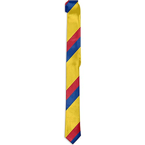 Mens Neuheit Polyester Seide bunte kolumbianische Flagge Krawatte Party Business Date Hochzeit formale Krawatten elegante charmante Krawatte