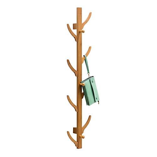 MRZHW Percha de árbol Montado en la Pared Perchero Creativo Perchero de bambú de Estilo Rack Estilo nórdico Perchero para Pasillo Sala de Estar Dormitorio-8 Hooks B