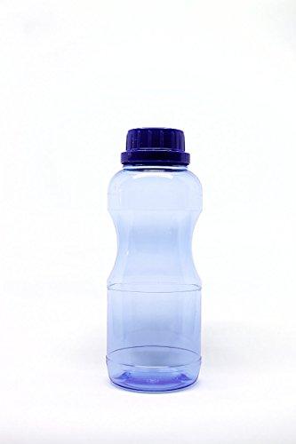 4 x 0,5 Liter (rund) TRITAN Trinkflaschen + 3 Standdardeckel + 3 Dichtdeckel + 2 Trinkdeckel aus Deutschland ohne Weichmacher (BPA frei) ohne Schadstoffe geruchsfrei und geschmacksneutral