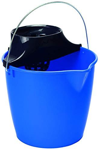 Curver - Cubo de Fregona con Escurridor 15L. Gaviota - Asa Metálica - Color Azul