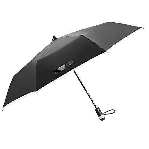 Robotlike Paraplu Vouwen Mannelijke Business Paraplu Vrouwelijke Zonnescherm Paraplu Versterking Winddichte Auto Veiligheid Paraplu Verstoorde Raam 23 Inch Tri-fold 8 Bone LED Verlichting Zonnescherm Multifunctionele F