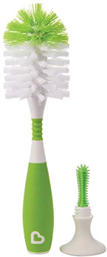 Munchkin Deluxe Bottle and Teat Brush with Textured, Easy-Grip Handle - Assorted Colours