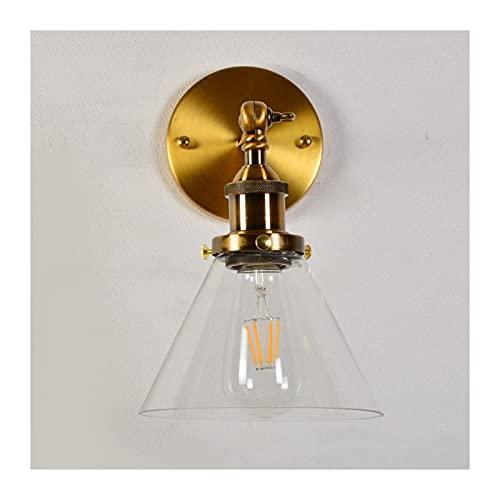 Lámpara de Pared,Aplique de pared Vintage de latón industrial luz de pared...
