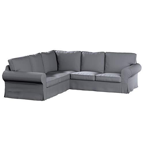 Dekoria Ektorp Ecksofabezug Sofahusse passend für IKEA Modell Ektorp Slade Grey