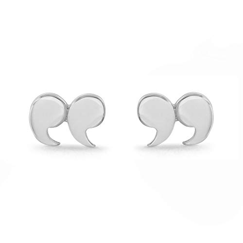Boma Jewelry Sterling Silver Quotation Mark Stud Earrings