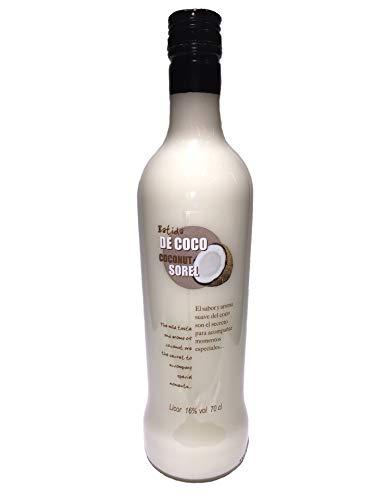 Batida de Coco Sorel, Kokosnusslikör für Cocktails, 0,7 L, 16{a4590415193b51721b1a7aec54eeb291d18997890d6bfa85ebb30a3aed7e3fde} vol.