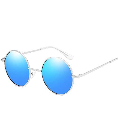 YHKF Gafas De Sol Polarizadas Unisex De Moda Gafas De Sol De Conducción Gafas Masculinas Redondas para Mujeres-C3