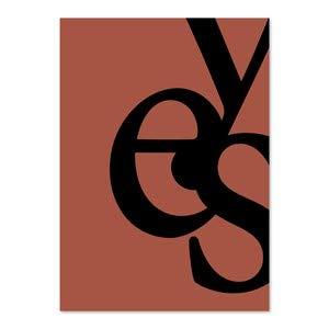 PLTY - Poster - Yes - Schwarz/Lehm - 50x70 cm