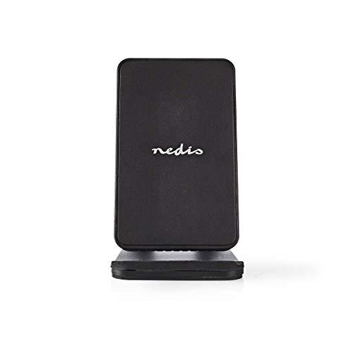 Nedis - Desktopstandaard met Draadloze Oplader - 10 W - USB type-C - Bureaustandaard voor smartphone - Smartphone in perfecte kijkhoek - Snel laden - Zwart