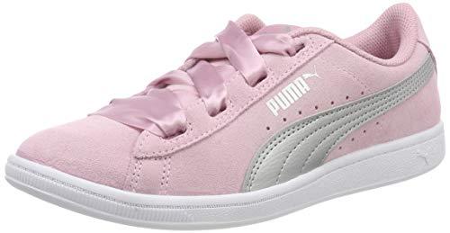 Puma Mädchen Vikky Ribbon Jr Sneaker, Pink (Pale Pink Silver), 38 EU