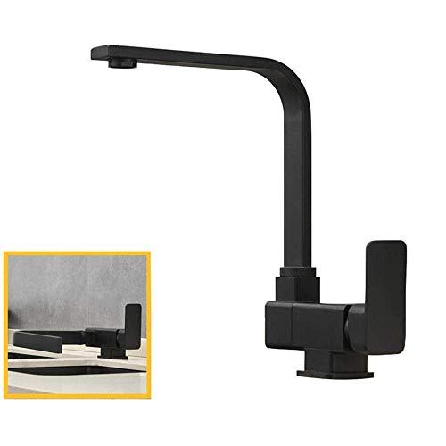 YBQ. Küchenarmatur Schwarz Kupfer Kupfer Heiß und Kalt Innenfenster Klapparmatur Waschbecken Universal Rotating