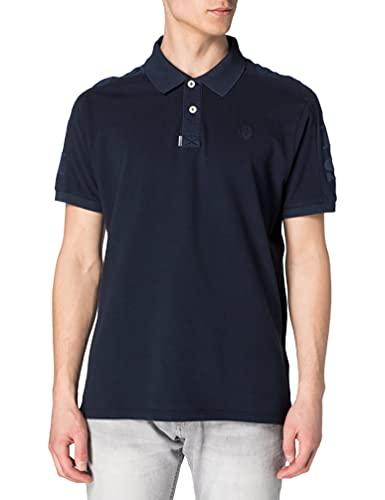 NORTH SAILS Polo da Uomo Nera - 100% piqué di Cotone - vestibilità Regolare - Leggera con Maniche Corte e Numeri Ricamati - XXL