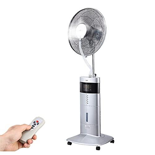 Ventiladores Ventilador de Servicio Pesado Potente Soporte Ventilador de nebulización Ventilador de Piso de enfriamiento oscilante Hogar con Control Remoto y Pantalla LED Spray 200ml/h 7.5