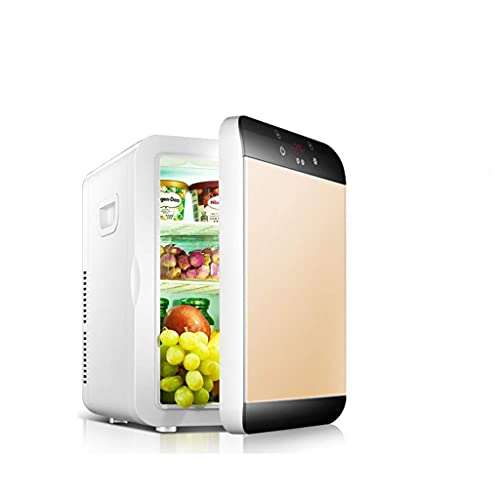 Mini refrigerador de 20 litros Compacto de 20 litros / Calentador Mini nevera / refrigerador de vino con termostato digital + refrigeración de doble núcleo para automóviles, viajes por carretera, hoga