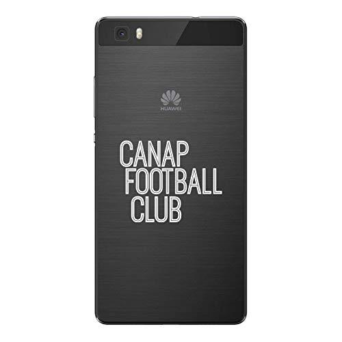 ZOKKO - Carcasa para Huawei P8 Lite Sofá, Football Club – Flexible Transparente Tinta Blanco