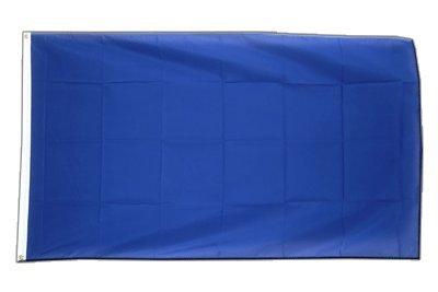 Einfarbig Blaue Flagge, blaue Fahne 90 x 150 cm, MaxFlags®