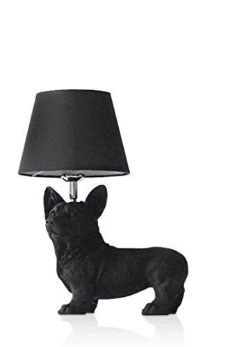 Dänische Welpen Tischlampe schwarz/weiß Tier Tischlampe Schlafzimmer Nacht Kinder Wohnzimmer Dekorationsbeleuchtung Wohnzimmer