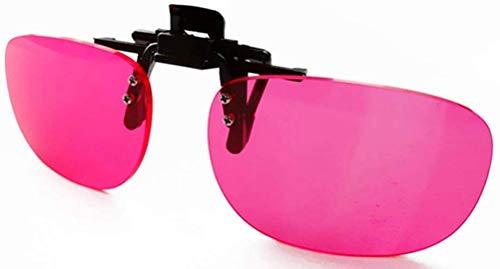 BLESSEDWZY Gafas daltónicas, Gafas de Color Ciego Discapacidad Visual Rojo/Verde Gafas de Conducir daltónicas Gafas de Sol con Clip Deportes al Aire Libre