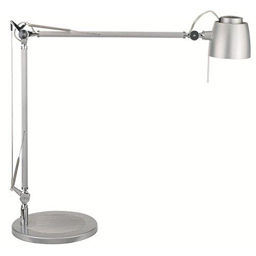 Lámpara halógena de mesa Maul Samba, color: plata