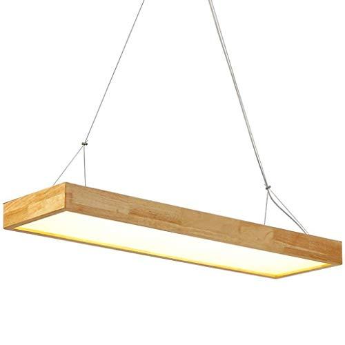 Lámpara Colgante LED, Oficina de Madera Techo Plano Plano Luz Ajustable Lámpara Colgante Colgante Colgante Lámpara Decoración para la Cocina/Sala de Estar [Clase de energía A ++] (Size : 120CM)