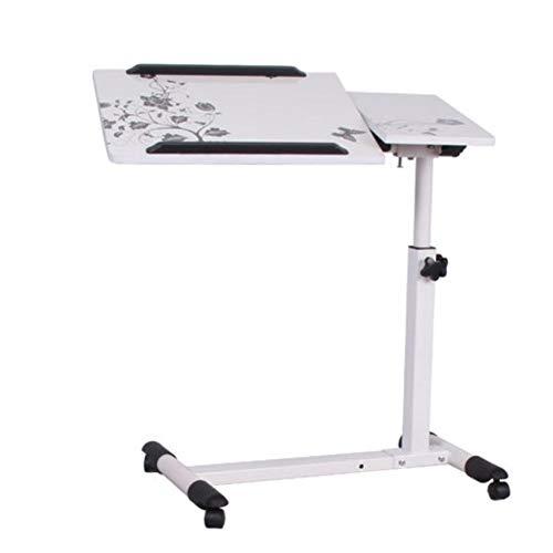GJX Laptop Stand Laptop Computer Stands Adjustable Lift Laptop Computer Desk Home Bedside Rotation Tilt Move Lounger Table,