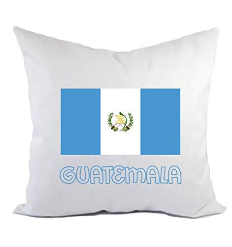 Guatemala - Cojín para sofá o cama, diseño de bandera con funda y relleno de 40 x 40 cm, de poliéster
