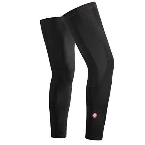 qualidyne Beinlinge Radsport Leg Sleeves Thermo Beinwärmer Fahrrad Basketball Fußball Anti Rutschen Knieschutz für Herren Damen