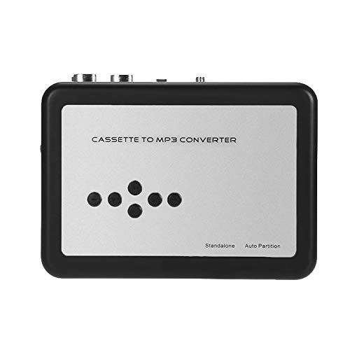 AplinK® Cassette-to-MP3 Converter TF Card Cassette Capture. No Need Computer Convert Tapes to Micro SD Card Directly.- Black + Silver