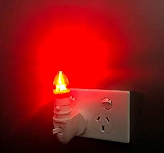 Red Plug in LED Night Light for Sleep Includes 2 x Bulbs, No Blue Light, Increase Deep Sleep