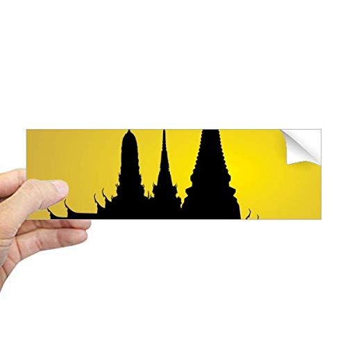 DIYthinker Adesivo retangular de para-choque, cultura tailandesa, sombra, templo, para-choque, notebook, janela
