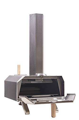 Char Outdoors The No. 1 Pizza Oven - Hand-Built, Portable Stainless Steel Outdoor Wood Fired Pizza Oven with Thermometer plus 1.5kg Wood Pellets – 2 Year Guarantee