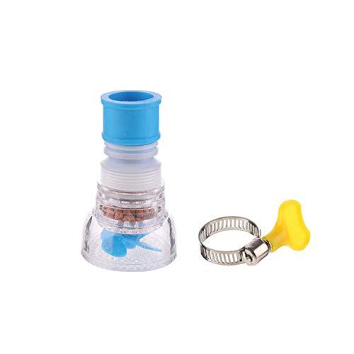 Wasserhahn Reiniger Leitungswasser Wasserreiniger Küchenarmatur Filter Hahn Küche Dusche Spritzwasser Filterhahn Gerätekopf Düse Wassersparend (F Einschichtiger Maifan Stein)