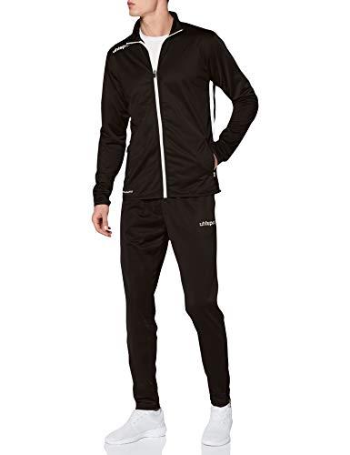 uhlsport Herren Essential Classic Anzug, Schwarz/Weiß, L