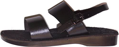 Holy Land Market Genuine Leather Suede Bottom Biblical Sandals (Yashua) Suede II