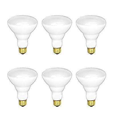 BR30 Incandescent Flood Light Bulb, 65W, 2700K Soft White, 580 Lumens, E26 Medium Base, 130V