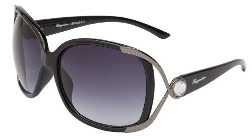 Schöne Marken Sonnenbrille für Damen von Burgmeister mit 100% UV Schutz   Sonnenbrille mit stabiler Polycarbonatfassung, hochwertigem Brillenetui, Brillenbeutel und 2 Jahren Garantie   SBM128-231