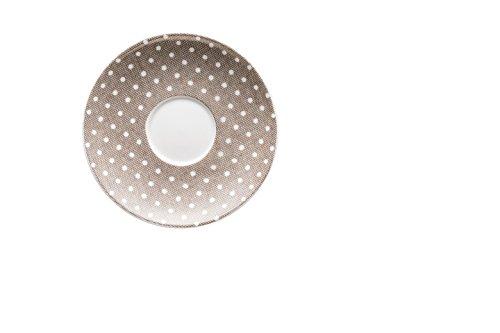 Hutschenreuther Taupe Ø 12 cm Espresso-Untertasse, Porzellan, Grau, 12 x 12 x 1.5 cm