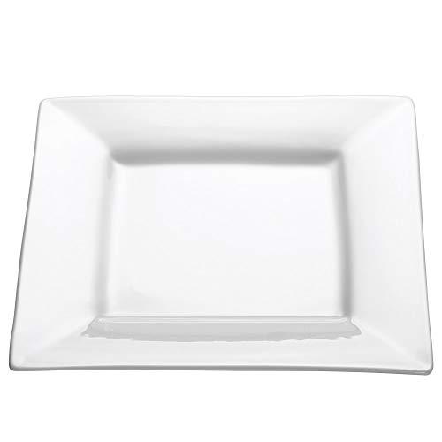 Maxwell Williams Speiseteller, quadratisch, 22 cm, weiß